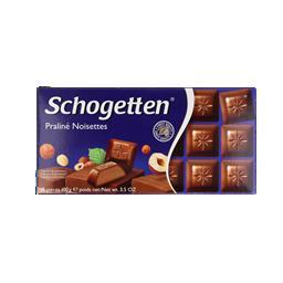 Bombons de chocolate, praleine
