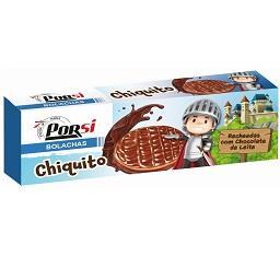Bolachas cobertas de chocolate