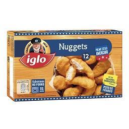 12 nuggets frango polme americano