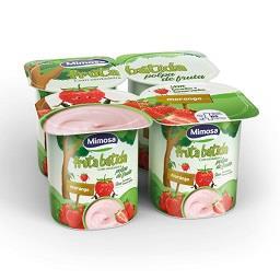 Iogurte fruta batida morango