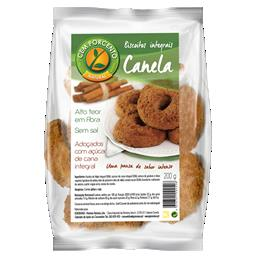 Biscoitos integrais canela