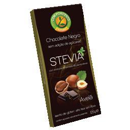 Stevia chocolate negro com avelãs