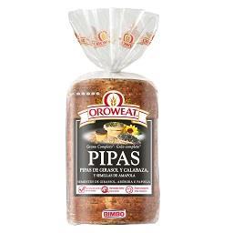 Pão de forma oroweat pipas