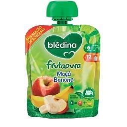 Pacote de fruta, maçã e banana