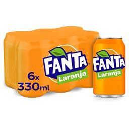 Refrigerante com gás, laranja, lata