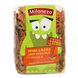 Massa mini laços com vegetais