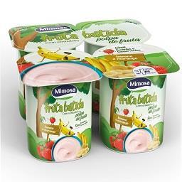 Iogurte fruta batida banana/morango