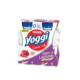 Iogurte liquido yoggi s/ lactose 0% romã e goji