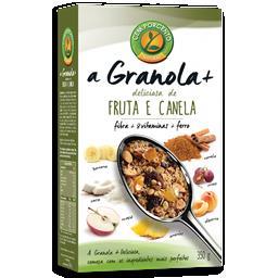 A granola + deliciosa fruta e canela