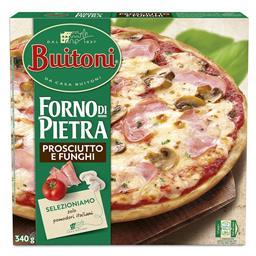 Pizza forno de pietra presciutto e funghi