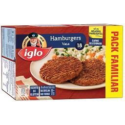 18 hamburguers s/ glúten vaca