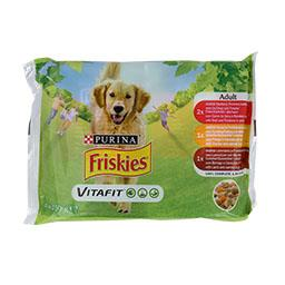 Comida húmida para cão adulto com frango, vaca e bor...