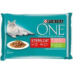 Comida húmida para gato esterilizado em molho com sa...