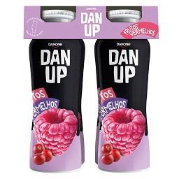 Iogurte líquido dan'up frutos vermelhos