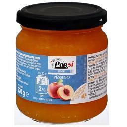 Doce de pêssego s/ açúcar adicionado