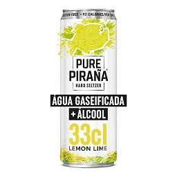 Pure piraña lemon-lime lata 33cl