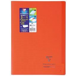 Caderno agrafado koverbook quadriculado 48 folhas