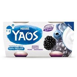 Yaos iogurte amora mirtilo