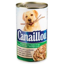 Alimento húmido para cão com carne/arroz/legumes