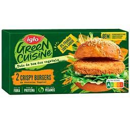 Crispy burgers de proteína vegetal