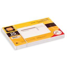 Envelope c6, com fita de silicone, 25 unidades