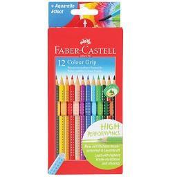 Lápis de cor aquarela com grip