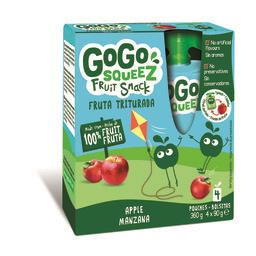 Gogosqueez snack de maçã 4x90g