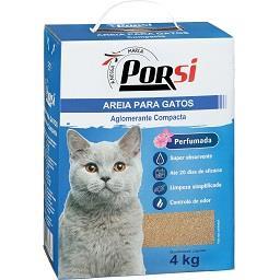 Areia para gatos aglomerante compacta perfumada