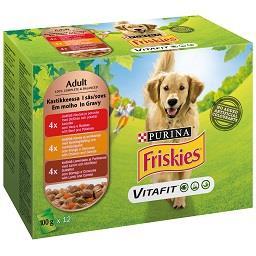 Comida húmida para cão vaca, frango e borrego