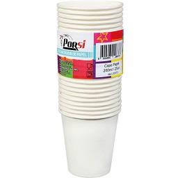 Copos de papel brancos 200 ml