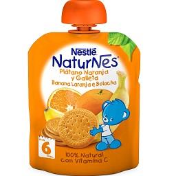 Fruta para bebé banana laranja bolacha +6 meses