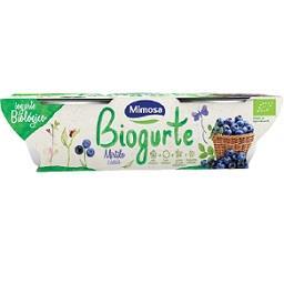 Iogurte batido com mirtilos e cassis, biológico