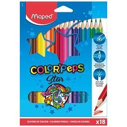 18 Lápis de cor peps longo