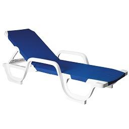 Espreguiçadeira lena azul 190 x 66 x 42 cm
