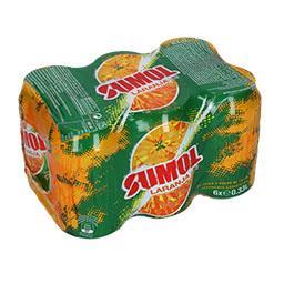 Refrigerante com gás de laranja, em lata