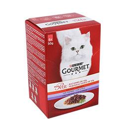 Comida húmida para gato seleção de carnes