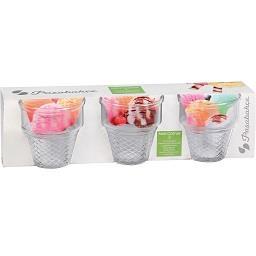 Conjunto de 3 taças de gelado