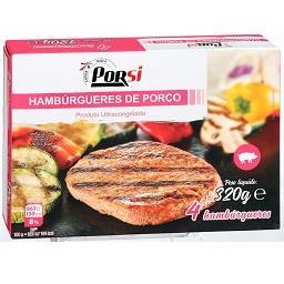 Hamburgers de porco, 4x80g