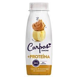 Iogurte líquido de banana e manteiga de amendoim sem...