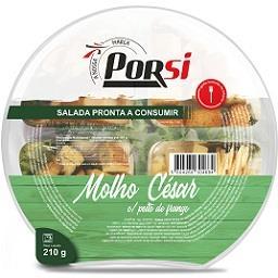 Salada Pronta a Comer Molho César com peito de frang...