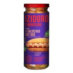 Salsichas hot dog, frasco