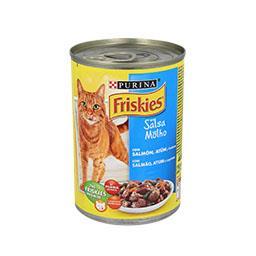 Comida húmida para gato adulto com salmão, atum e le...