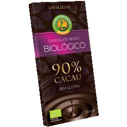 Chocolate negro 90% cacau bio
