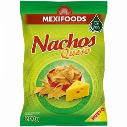Nachos de farinha de milho sabor a queijo