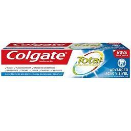 Pasta de dentes total limpeza visível