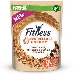 Fitness granola chocolate, amêndoas e quinoa com 51%...
