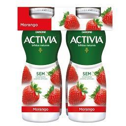 Iogurte activia líquido morango
