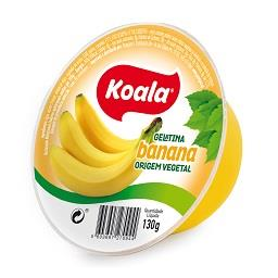 Gelatina de origem vegetal de banana