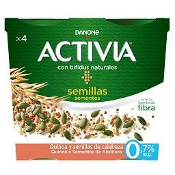 Activia quinoa e sementes de abóbora
