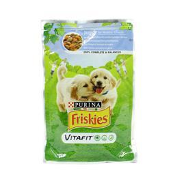 Comida húmida para cão júnior com frango, cenoura em...